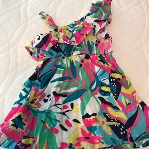 Bright colored summer dress in size 6-12mos